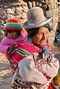 Except for in Lima, all Peruvians wear at least some, if not all, items of traditional clothing.