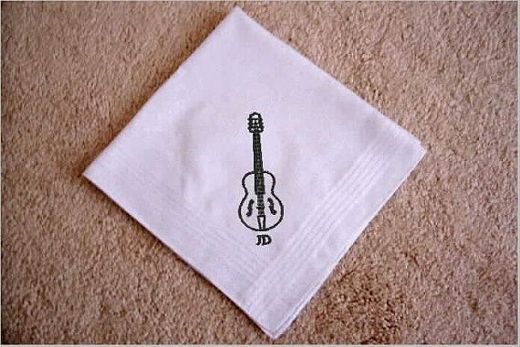Mens Wedding Gifts From Bride: Men's Handkerchief, Personalized Embroidered Gift For Band