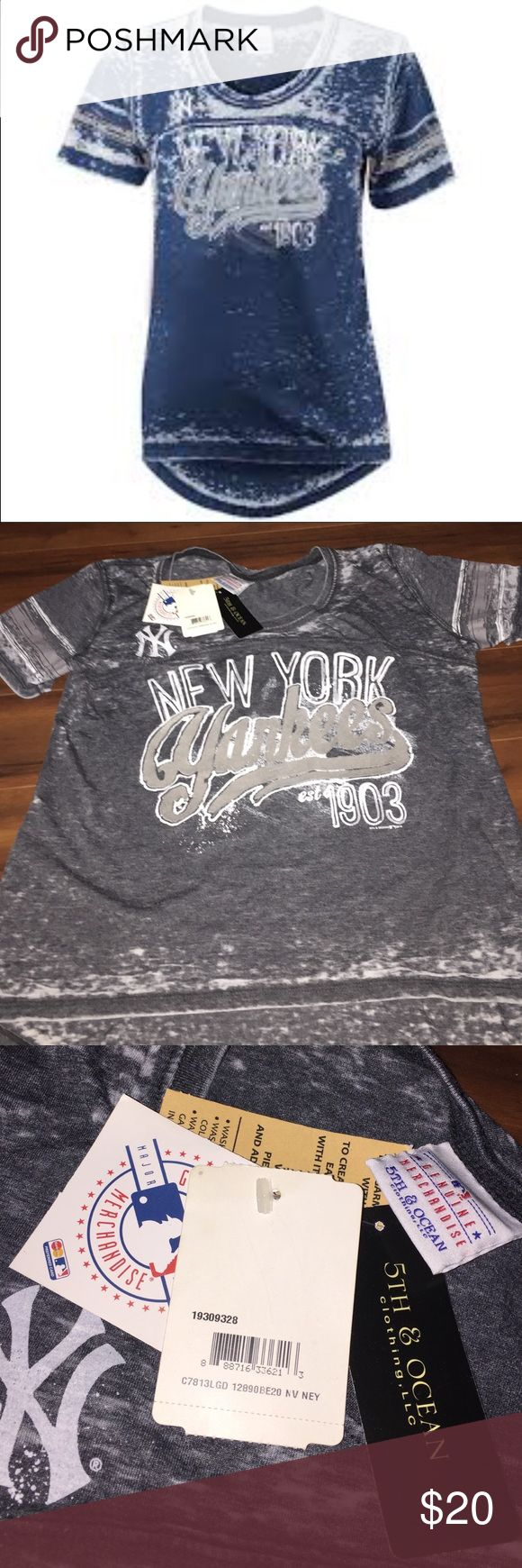 New York Yankees Woman's T-Shirt 5th & Ocean, size small, new with tags. Feel free to stock up on my shirt selection as I am willing to give a bundle discount! :) 5th & Ocean Tops Tees - Short Sleeve
