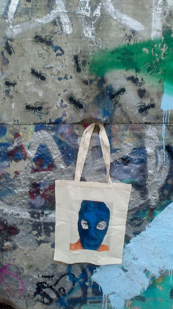 #PussyRiot bag on the #BerlinWall
