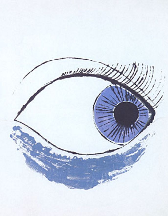 Andy Warhol (1928-1987, American), 1952, Eye. ©1999 The Andy Warhol Foundation; Courtesy The Andy Warhol Museum, Pittsburgh
