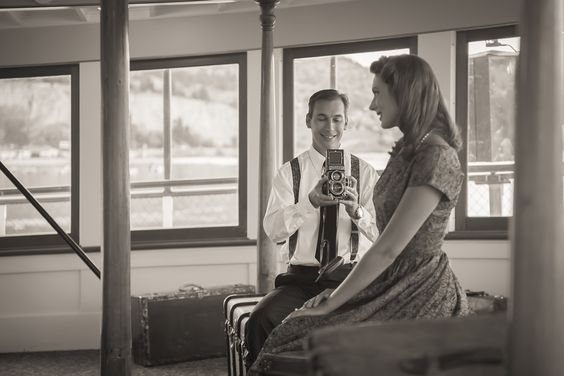 Lauren + Peter - Guests relax on the SS Sicamous (a wedding venue in the South Okanagan). These photographs were taken by Kuhl Photography, based in Victoria BC.