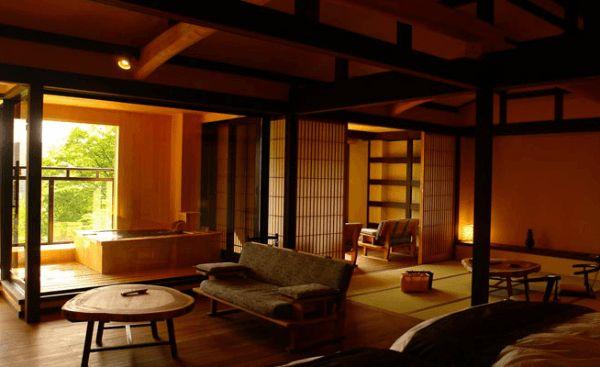 Room at luxury ryokan Gora Hanaougi in Hakone Japan