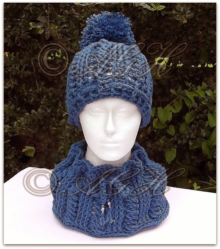 Double Knitting Bobble Hat Pattern Free : AG Handmades: Winter Cabled Cowl and Bobble Hat, free unisex crochet pattern ...
