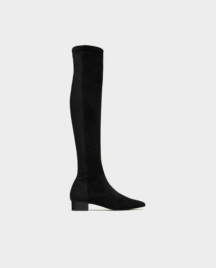 COMBINED FLAT OVER-THE-KNEE BOOTS