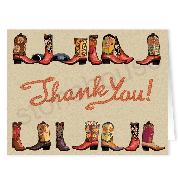 Stonehouse Collection: Cowboy Boot Thank You Cards