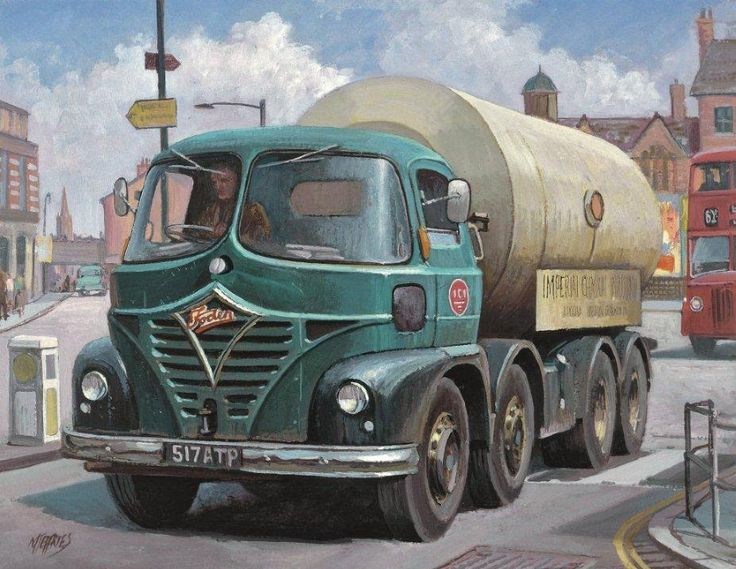 """Foden S21 Mickey Mouse by Mike Jeffries - Imperial Chemical Industries had a huge fleet of tankers for the transport of their sometimes highly dangerous chemicals and many were Foden's like this S21 """"Mickey Mouse"""" cabbed example. The drivers of these quality machines carrying such hazardous material always seemed to be men of at least middle age and as memory serves me always stuck strictly to the speed limit, not that a Gardner engined Foden of that vintage was capable of much above 35mph…"""