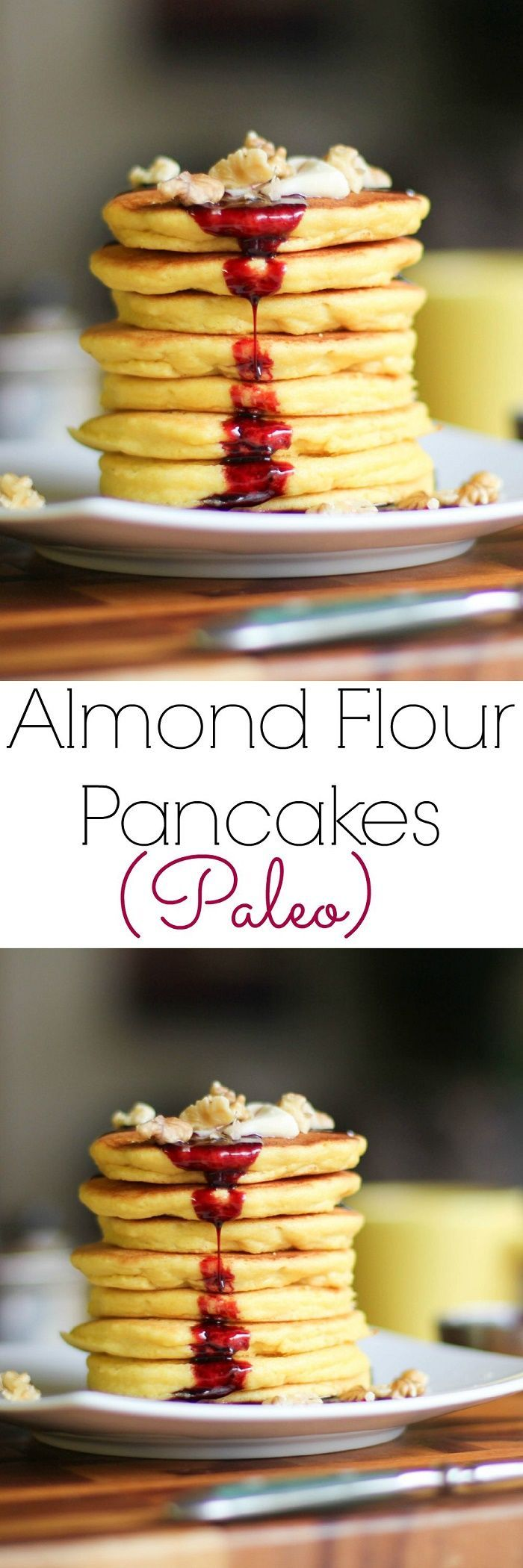 Almond Flour Pancakes | gluten-free, grain-free, and paleo! | http://TheRoastedRoot.net #healthy #breakfast #recipe