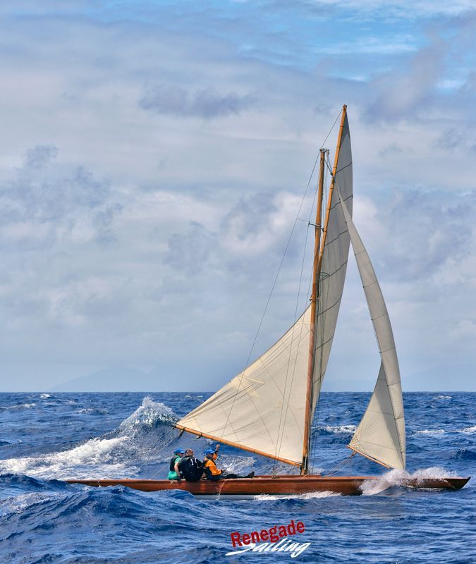 My favorite little (long) wooden racer is Tilly XV as she plows through the waves at Antigua Classic Yacht Regatta earlier this year. ... #sailing #sailor #yachtracing #sailstagram #competition #athletes #sports #sailboat #yacht #zeil #zeilen #segeln #wind #gosailing #sailfast #renegadesailing #bateau #crewlife #classicboat #classicyacht #woodenboat #history #Germany #tillyxv #sonderklasse #smallboat #wood #classicyacht #whitesails #antigua #ACYR #panerai #caribbean #bluewater #beautiful