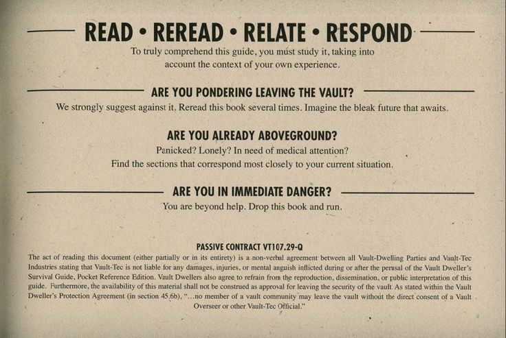 #fallout #guide https://www.pinterest.com/radagast2941/vault-dwellers-survival-guide/