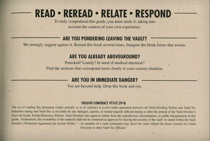 #fallout #guide https://www.pinterest.com/radagast2941/vault-dwellers-survival-guide/