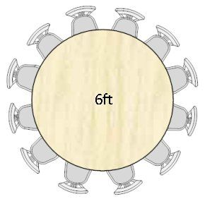 Table sizes for functions woodworking pinterest for 10 seat round table size