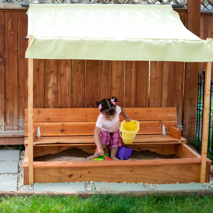 """""""Beginner"""" sand box for $50 Modified Sandbox with built in seat 