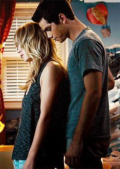 "Britt Robertson and Dylan O'Brien in ""The first time"""