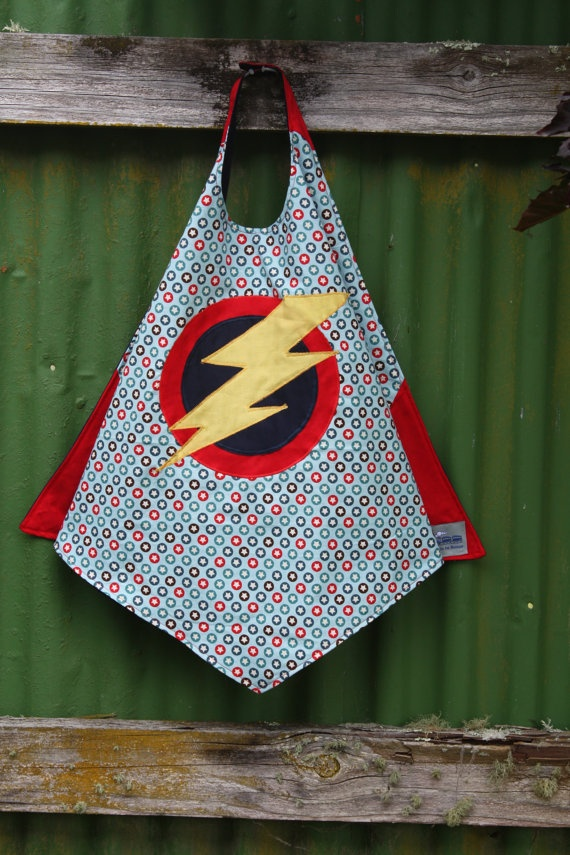 Superhero Cape Reversible SuperCool SuperDude by TrainToBoston.