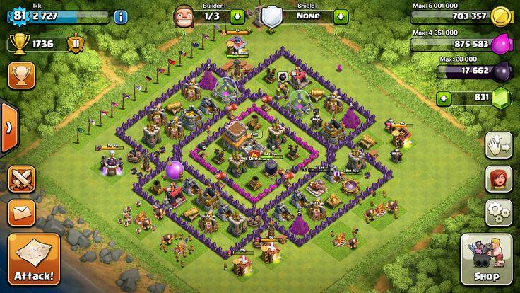 Base th8 current base trophy base base designs clash of clans th8