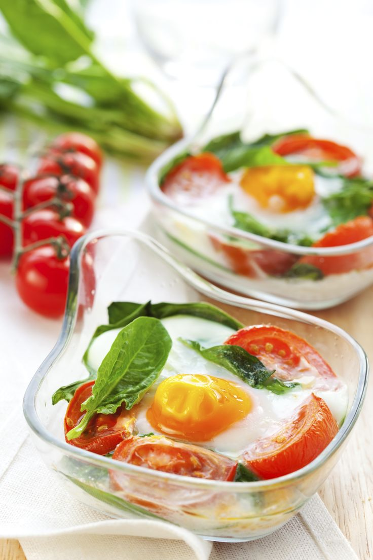 Italian Baked Eggs & Vegetables. A perfect healthy breakfast.