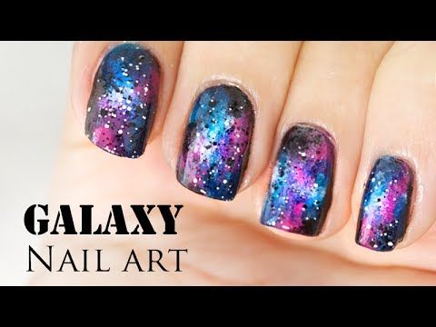 Galaxy nails (sans éponge // No sponge) - Facile // Easy (english sub)