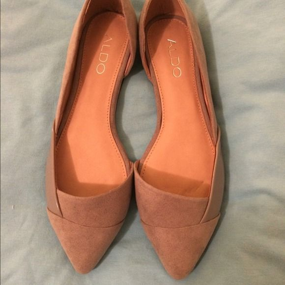 Women shoes gray flats suede aldo size 7.5 New ALDO Shoes Flats & Loafers