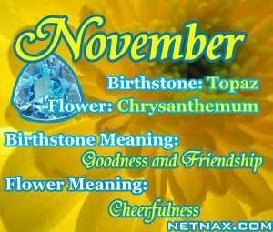 November Birth Associations