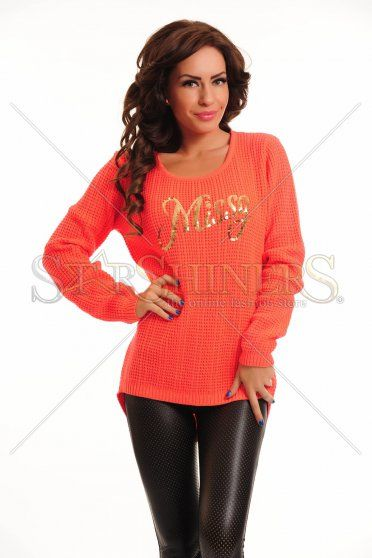 Pulover MissQ Adorable Shine Coral