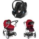 Mamas and Papas Sola 2 Buggy   Carrycot   Cybex Aton 4 bright red