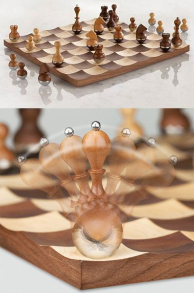scalloped chess board: Games, Idea, Chess Boards, Things, Chess Sets, Design