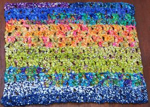 This rag rug is the prettiest thing I've ever crocheted! (So far, that is.) I'm really excited to share the free pattern with you.: The Finished Rag Rug