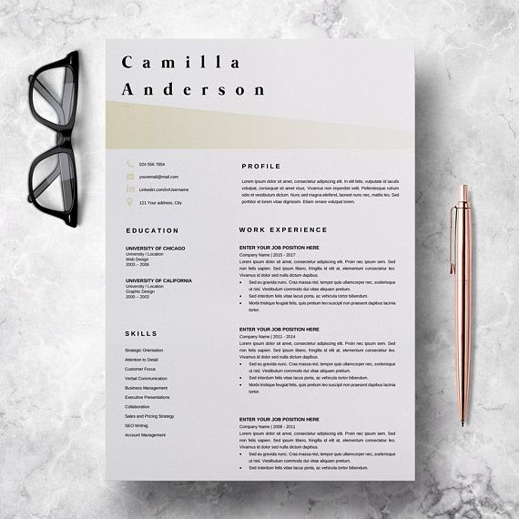 Resume Templates In Ms Word Resume Template Microsoft Word  Professional Cv Layout  Marketing .
