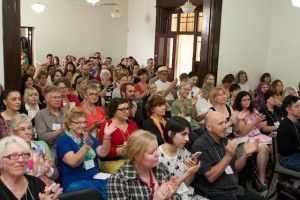 The audience applauds Benjamin Law's welcome to our Creative Non Fiction Festival 2013.