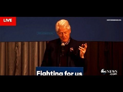 BILL CLINTON EXHIBITS SYMPTOMS OF PARKINSON'S DISEASE DURING IOWA RALLY SPEECH FOR HILLARY - YouTube