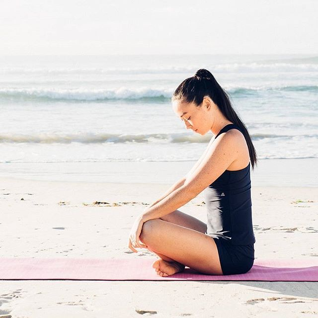 """""""First I do the meditation, then I do the things."""" Good morning beauties, go do the things that make you happy today!💕@ktsanchez89 wearing BAY. 🌿[link in bio]"""