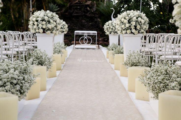 Sugestões para decorar o caminho até o altar