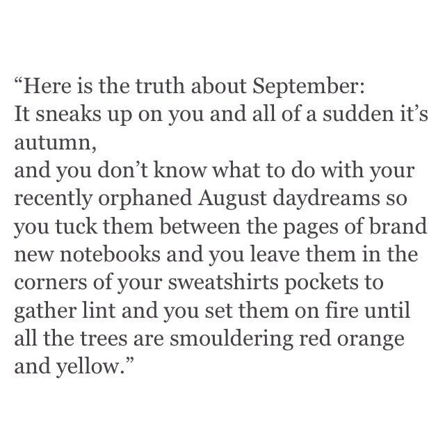 september -- love this