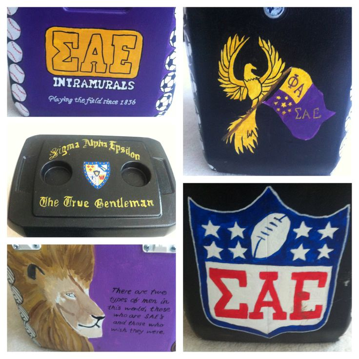 SAE intramural cooler to bring gatorades to their games #sweetheart