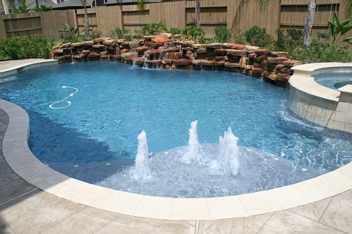 74 best pool images on pinterest for Pool design katy tx