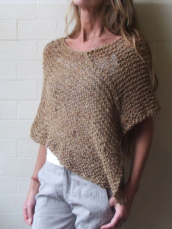 sandy yellow Alpaca mix Poncho by ileaiye on Etsy,