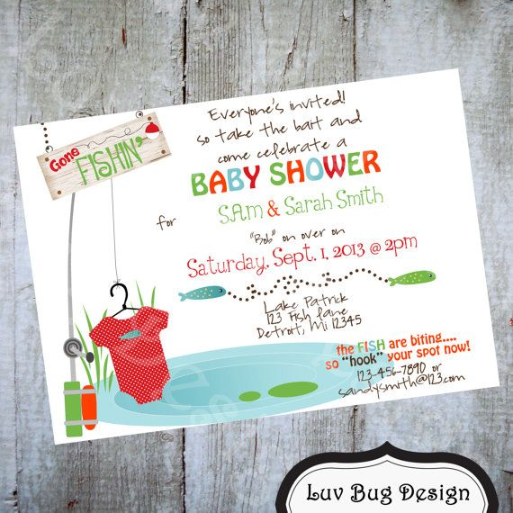 PRINTABLE Fishing Baby Shower Or Sprinkle Invitation This Is A Listing For  A Printable Dpi) Digital File Product (JPEG U0026 PDF) Can Be