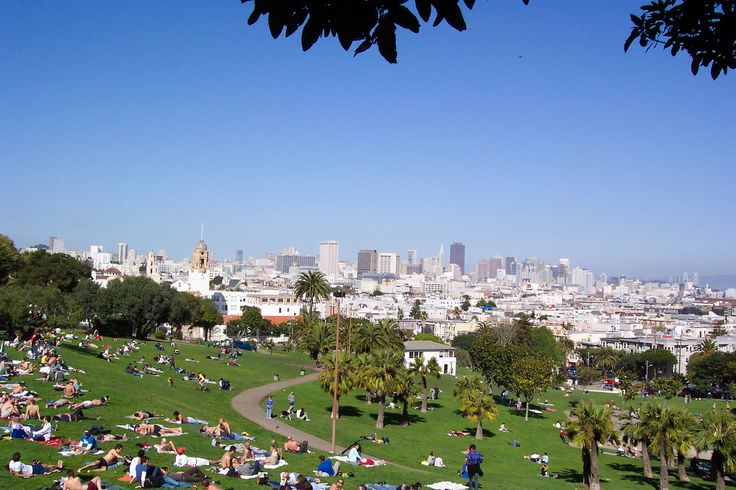I want to be in Dolores Park day-drinking and people watching.