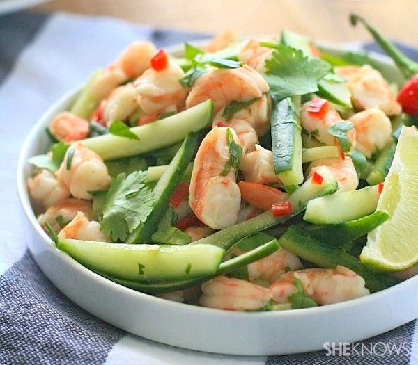 Burmese shrimp and cucumber salad #sheknows