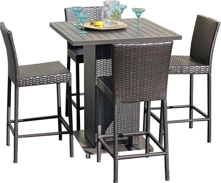 Napa Pub High Top Barstool Wicker Dining Set   Beachfront Decor. Pub Table  SetsPub TablesOutdoor