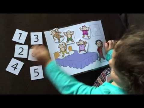 Five Little Monkeys Jumping on the Bed Printable Activity         |          Totschooling - Toddler and Preschool Educational Printable Activities