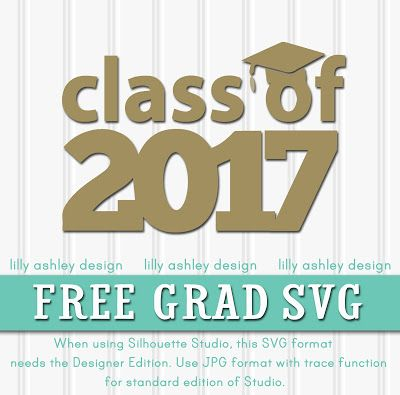 Freebie Graduation SVG File for 2017 by lilly ashley