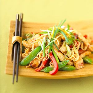 Make your favorite #takeout dish at home with this recipe for #lemon #ginger #porkstirfry.