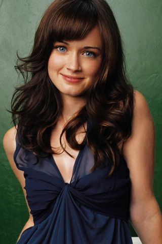 50 shades Alexis Bledel in Lovely Blue Dress