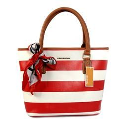 Cute and cheap: Michael Kors Scarf Striped Medium Red Totes : Michael