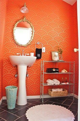17 Best Ideas About Orange Bathrooms On Pinterest Orange Bathroom Decor Bathroom Paint