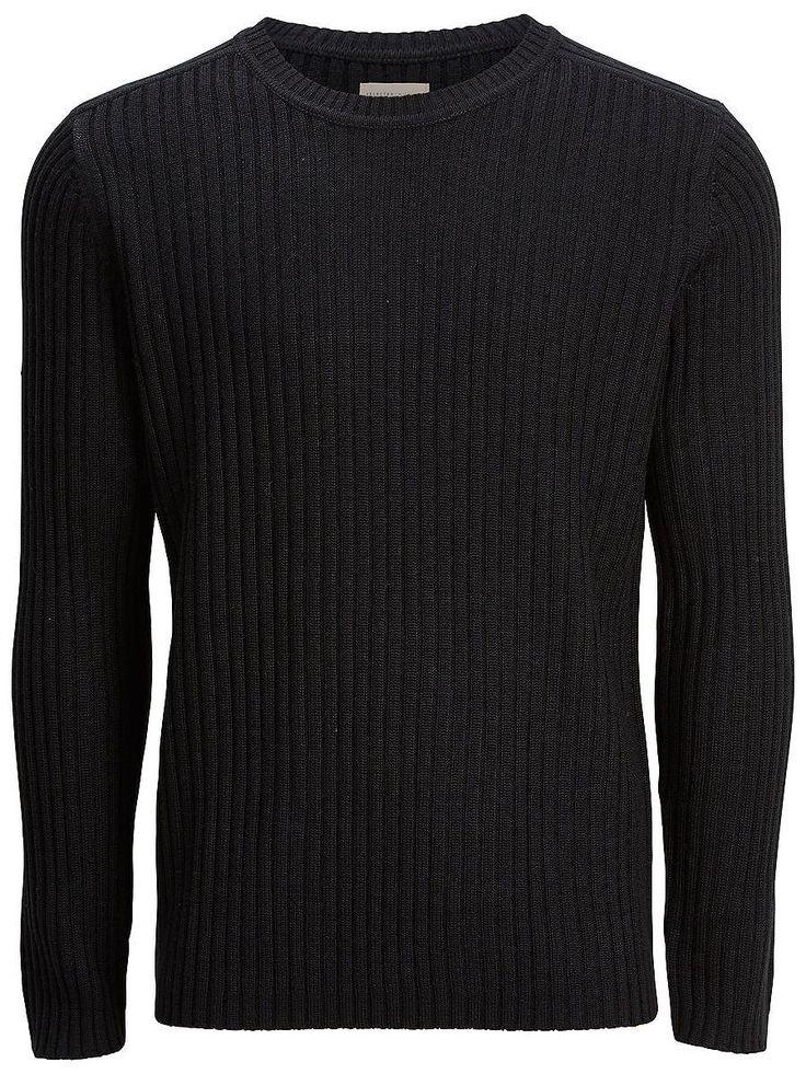 Indigo SELECTED Homme - Regular Fit - Crew Neck - Geripptes Strick-Muster - Schwere Qualität Bereichere deine Auswahl für kalte Tage mit diesem Strick-Sweater. Dieser Artikel wurde mit einer bequemen Crew-Neck-Passform versehen und passt hervorragend zu einem schlichten T-Shirt oder einem leichten Baumwollhemd. 50% Acryl, 50% Wolle...