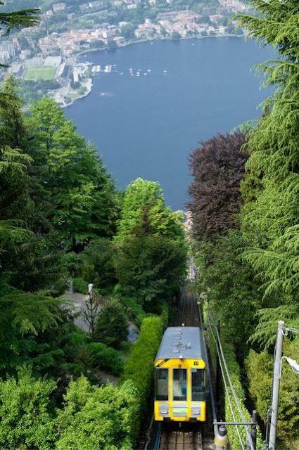 Funicular railway ~ Lake Como, Italy