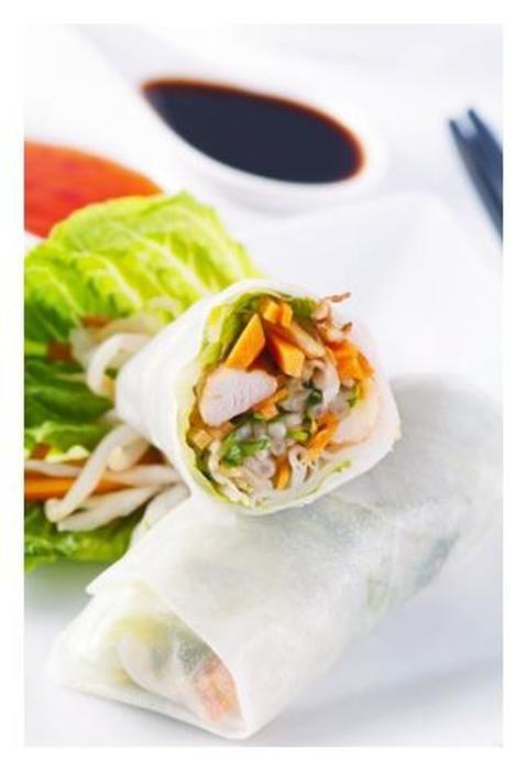 Vegetarian Rice Paper Rolls Make Ahead Lunch